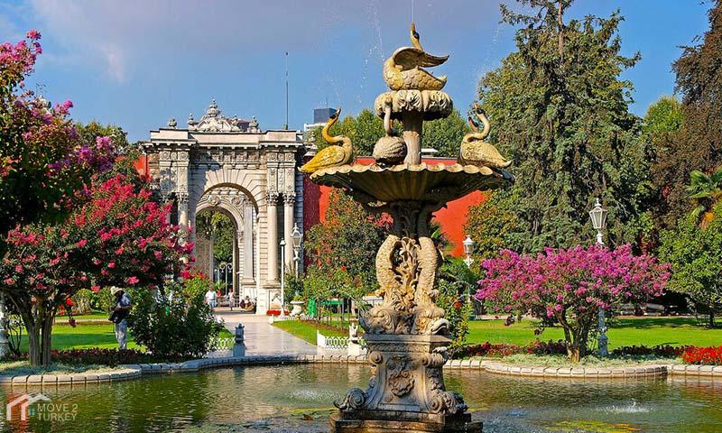 Dolmabahçe Palace garden
