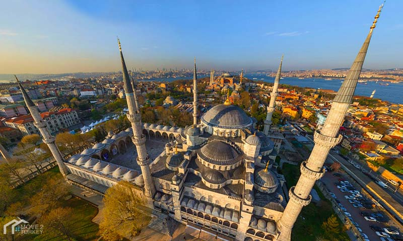 Sultan Ahmed Mosque | the blue Mosque from top