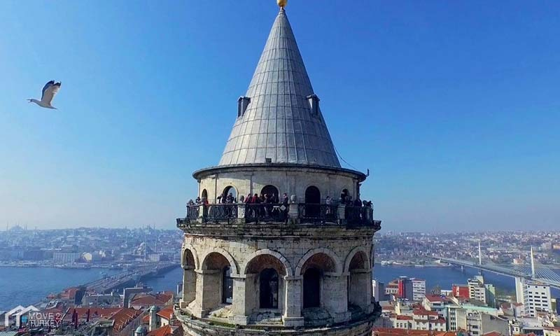 Watch The City From The Top of The Galata Tower