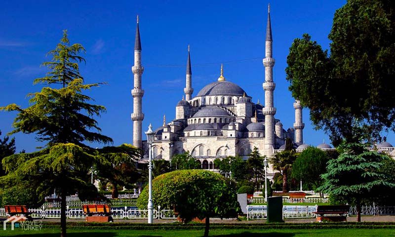 Next to Sultan Ahmed Mosque Gardens