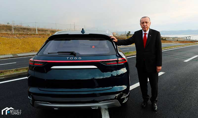 "Turkish car ""TOGG"" with Erdogan"