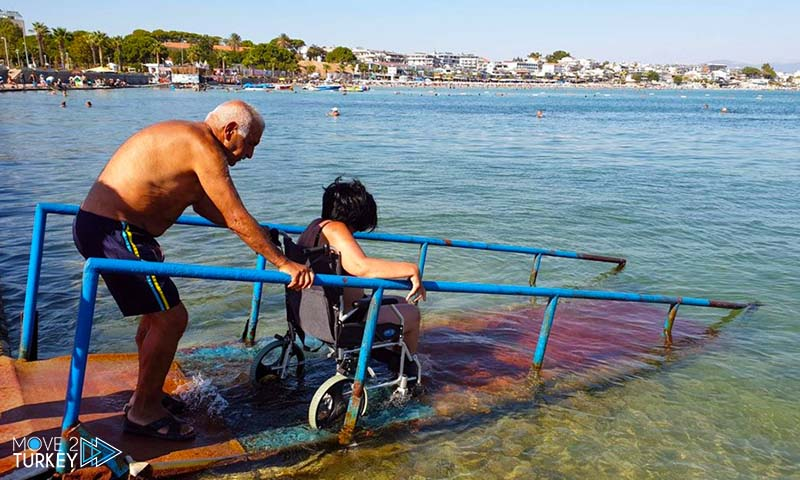 Barrier-free Didim Beach for disabled people in turkey