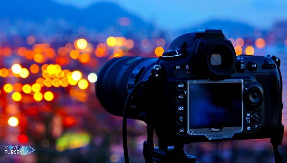 Nikon camera in Istanbul