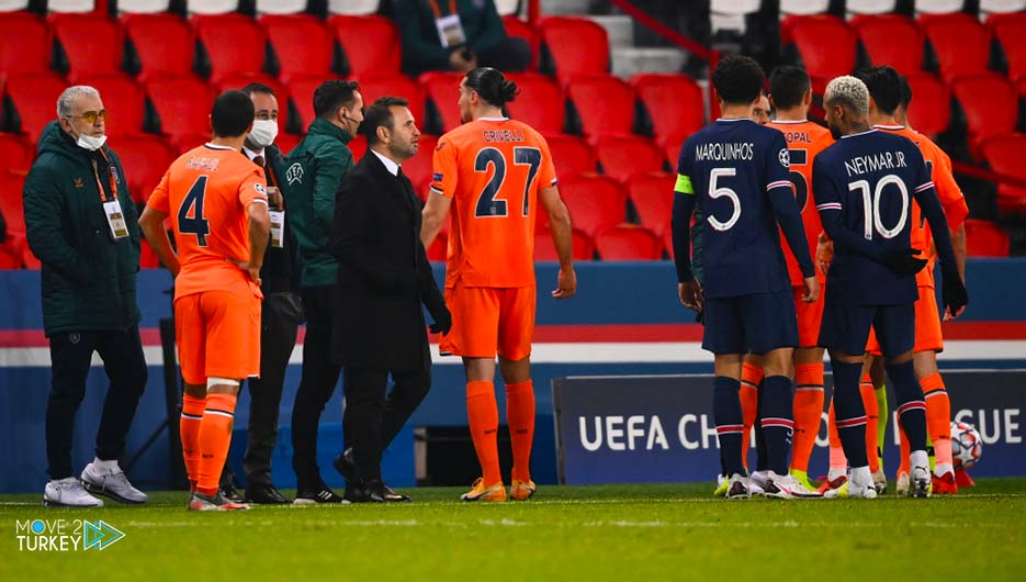 Racist insult by the referee in the match between Paris Saint-Germain and Basaksehir
