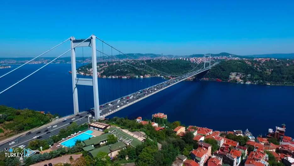 Sultan Mehmed Fatih Bridge in Istanbul