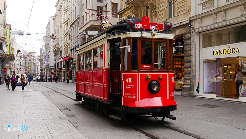 red trains in Istanbul