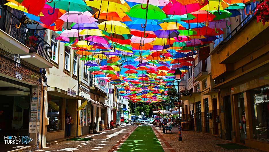 umbrellas in Karakoy Street